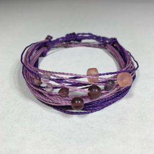 Purple Stackable Adjustable Bracelets 3-pack